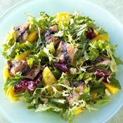Chicken and Mango Salad with Pomegranate Dressing