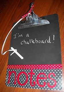 Chalk board clip boards