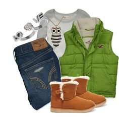 """Hollister Winter Outfit"" by victoria-starz on Polyvore"