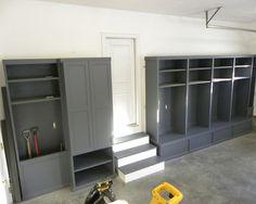 I love these storage lockers for the garage, mudroom, hallway, etc.