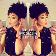 Short hair faux hawk!