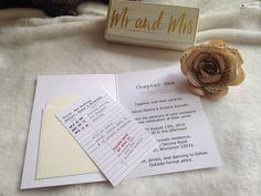 Literary Wedding Invitations