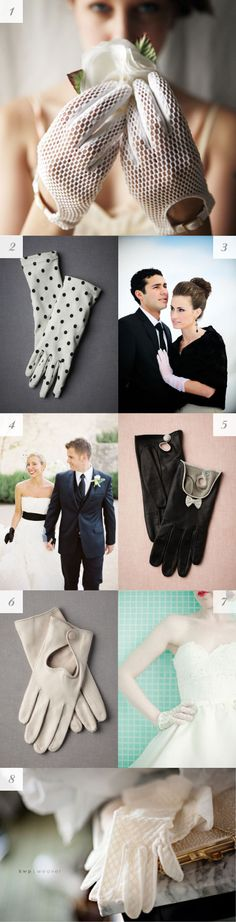 Cute gloves for winter brides or bridesmaids!