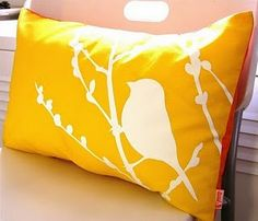 I may have to do this, since i cant find the right pillow for my room.   bleach pen on fabric- could do with a stencil on futon cover?