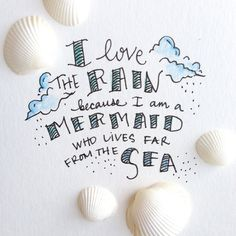 """Inspiration quotes about mermaids and the sea. ~ """"Dive deep for the Treasure that you Seek"""" ~ Unknown """"Mermaid: A sea woman who chooses Imagination over Fear Mermaid Room, Mermaid Art, Mermaid Paintings, Mermaid Tails, Manga Mermaid, Mermaid Poster, Mermaid Bathroom, Mermaid Beach, Unicorns And Mermaids"""