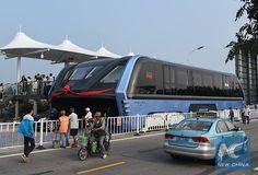 渋滞回避を狙った中国の「またがりバス」がまさかの実車化、今後は実験走行も開始 - GIGAZINE