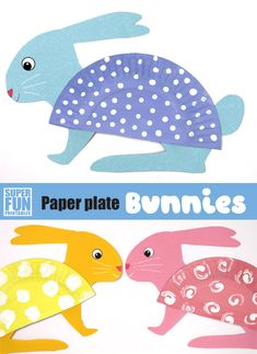 The cutest bunny craft from paper plates for Easter or Spring craft. This is a fun and easy kids activity with a printable template and looks great hanging on the wall sunday school crafts printables Paper plate bunnies Toddler Sunday School, Sunday School Crafts For Kids, Easter Crafts For Toddlers, Easter Art, Bunny Crafts, Easter Crafts For Kids, Toddler Crafts, Easter Decor, Easter Eggs