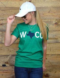Waco, Texas tee // Always rep Baylor's hometown!
