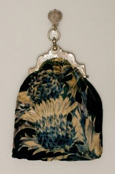 1860-1890 Chateline purse--a hook was sewn on the skirt for this