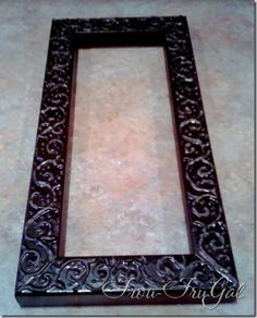 """how to emboss wood on the cheap!  She uses """"wall fix"""" but I've also seen this done with Elmer's glue!"""