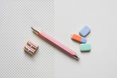 Lead holder, Mechanical clutch pencil, Koh-i-noor automatic graphite pink gray silver
