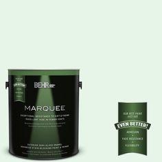 BEHR MARQUEE 1-gal. #450C-1 Dinner Mint Semi-Gloss Enamel Exterior Paint