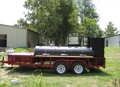 We built this BBQ Pit for the Texas Tech Meat Science Department with tons of space and accessories. Custom Bbq Smokers, Custom Bbq Pits, Bbq Smoker Trailer, Bbq Pit Smoker, Best Portable Grill, Backyard Smokers, Smoker Designs, Outdoor Bbq Kitchen, Hawaiian Bbq