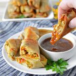 Baked Pork and Napa Cabbage Spring Rolls