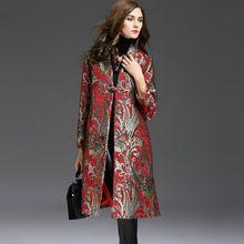 2016 Novos Chegada do Outono das Mulheres de Estilo Nacional Moda Grande Casaco De Lã Longo Das Mulheres Blusão Casaco Fashion Plus Size Grande 5XL(China (Mainland))