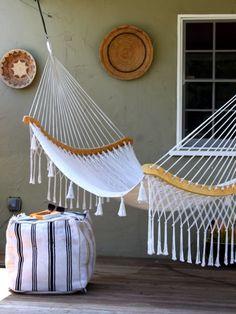 This Recycled Rug Ottoman | 29 Insanely Cool Backyard Furniture DIYs