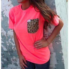 Cute shirt!!! Would be cute to find matching pants to match the pocket on the shirt!