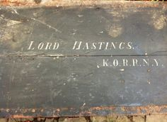 WWW.HUTCHISONANTIQUES.COM Antique Military Campaign Furniture @HATetbury: Lord Hastings' c.1900s Military Campaign Travel Trunk, attributed to Military Campaign Furniture makers Ross & Co.