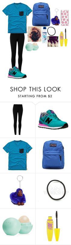 """looks Mayara C ed.fisíca"" by mayara-loca ❤ liked on Polyvore featuring Max Studio, New Balance, Hollister Co., JanSport, Kipling, Eos, Maybelline, Skinnydip, women's clothing and women"