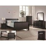 Crown Mark - 4-PC Louis Philip Contemporary Black Queen Size Sleigh Bedroom Set - 59B3780QSET4  SPECIAL PRICE: $943.00