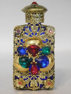 Vintage Bold Jeweled Art Deco Perfume Brass Ormolu? Filigree Czech Bottle Dauber | Collectibles, Vanity, Perfume & Shaving, Perfumes | eBay!