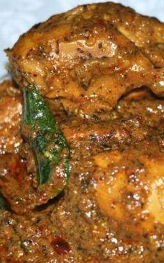 Chicken Ghee Roast Recipe - Mangalore Style- CHICKEN GHEE ROAST ~~~ recipe gateway: this post's link AND www. Indian Chicken Recipes, Goan Recipes, Veg Recipes, Curry Recipes, Indian Food Recipes, Vegetarian Recipes, Cooking Recipes, Recipe Chicken, Chicken Recepies