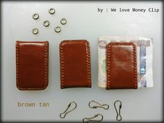 Money Clip leather handmade