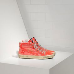GGDB Damen - Billige Golden Goose Slide Sneaker Im DI Cotone E Stella Pelle Archive Damen Schuhe Outlet