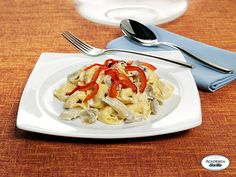 Tortelloni Barilla con Speck e Fontina con carciofi e peperoni