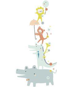 MiPetiteLife.es - Medidor Infantil Animales. Los vinilos LILIPINSO están hechos para hacer de las habitaciones infantiles un lugar extraordinario. Nuestros bebés crecen ràpido ! No perdamos la oportunidad de recordar cada centímetro de cómo nuestros amores se van haciendo más grandes. www.MiPetiteLife.es