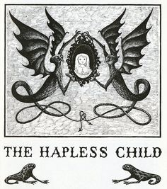 """The hapless child"" por Edward Gorey Illustrations, Book Illustration, Edward Gorey Books, Creepy Art, Dark Art, Sketches, Drawings, Artsy, Artwork"