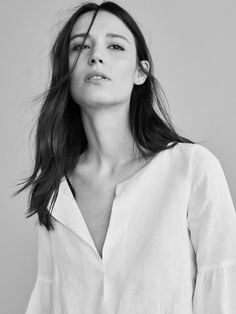 White linen blouse #linen