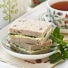 Dainty Egg and Watercress Sandwiches perfect for snack or tea time