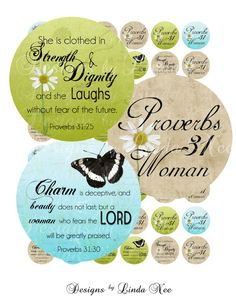 PROVERBS 31 Woman CHRISTian Scripture (1 Inch Round) Bottle Cap Images Digital Collage Sheet Buy -2 Get 1 Sale printable stickers Bible