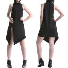 Vestido Gótico Negro Asimétrico | Crazyinlove España