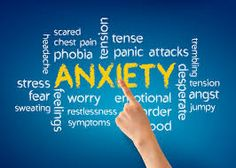 Here are a few of the symptoms of anxiety disorders.