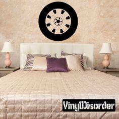 Tire Rim Wall Decal - Vinyl Decal - Car Decal - DC003