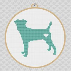 Parson Russell Terrier Silhouette Cross Stitch PDF by kattuna