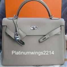 hermes leather 32cm kelly handbag ghw black satchel