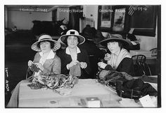 Actresses knitting at a fundraiser for Stage Women's War Relief, c1915, New York City; from Library of Congress uploads to Flickr Commons.