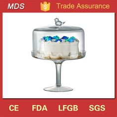 Check out this product on Alibaba.com App:Pedestal songbird rotating crystal glass cake stand with dome https://m.alibaba.com/ZB3Qr2