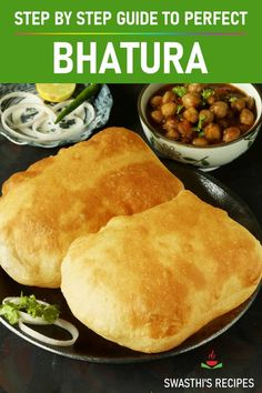 Learn to make perfect bhatura at home with this step by step photo and video guide. Bhatura is a leavened fried bread popularly eaten with chole. Indian Veg Recipes, Indian Snacks, Vegetarian Recipes, Healthy Recipes, Vegetable Recipes, Snack Recipes, Bhatura Recipe, Naan Recipe, Crockpot Recipes
