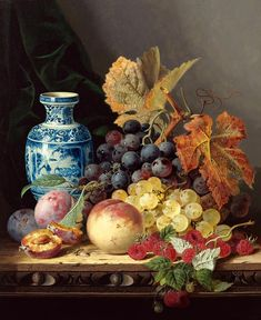 Edward Ladell (English, 1821-1886). Still Life with a Chinese Vase