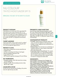 Nu Colour Tinted Moisturizer Product Information Page Nu Skin, Tinted Moisturizer, Product Information, Moisturizers, Beauty Skin, Make Up, Good Things, Colour, This Or That Questions