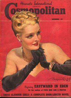 "Cosmopolitan magazine, DECEMBER 1938 Model: Miriam Jordan Artist: ""Cosmopolitan Lady"" Bradshaw Crandell"