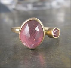 SALE  One of a Kind Rose Cut Pink Sapphire and by ChristineMighion, $425.00