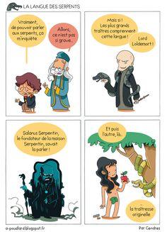 À+Poudlard+/+At+Hogwarts+-+Harry+Potter+Parody:+La+langue+des+serpents+/+The+la. Harry Potter Hermione, Harry Potter Anime, Harry Potter Fan Art, Harry Potter Universal, Harry Potter World, Slytherin And Hufflepuff, Lily Potter, Geek Humor, Anime Manga