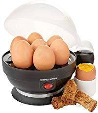 Andrew James Electric Egg Boiler In Black, With Poacher and Steamer Attachments - 7 Egg Capacity & 2 Year Warranty (affiliate link) Cooking Cup, Cooking For Two, Cooking Tools, Cooking Gadgets, Pureed Food Recipes, New Recipes, Best Boiled Eggs, Radios, How To Make Dip