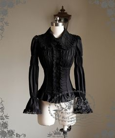 Fanplusfriend Lady's New Romantic Series Gothic Lolita Rococo Pleated Bust Long Sleeves Blouse