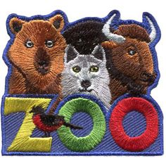 Zoo North America (Iron On) Embroidered Patch by E-Patches & Crests Girl Scout Badges, Brownie Girl Scouts, Girl Scout Patches, Iron On Embroidered Patches, Girl Scout Crafts, North America, Brownies, Teddy Bear, Pets